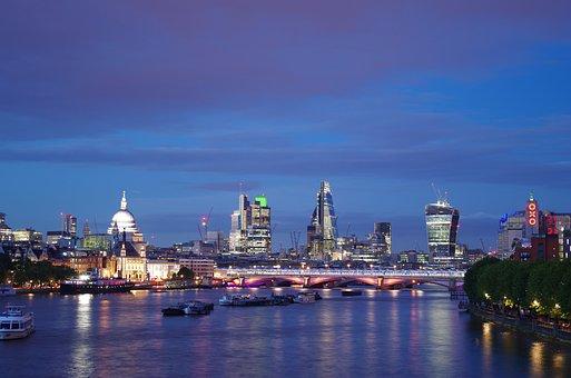 City Of London, London By Night, Waterloo Bridge