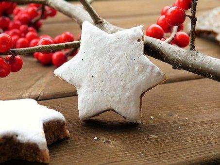 Zimtstern, Bake, Cookie, Cinnamon, Star