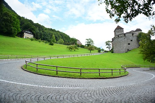 Castle, Tower, Fortress, Liechtenstein, City, Buildings