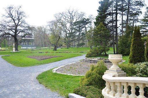 Halifax, Public Gardens, Lake, Scenery, Park, Green
