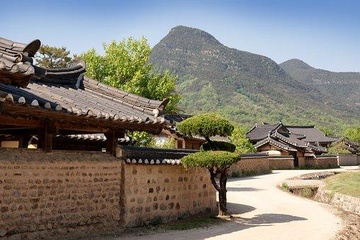Republic Of Korea, Traditional, Houses, Hanok