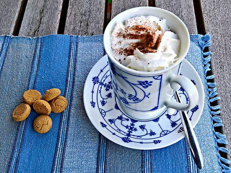 Drink, Hot Chocolate, Cocoa, With Cream, Whipped Cream