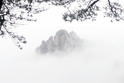 Huangshan, Winter, Mountains, A Surname Mist