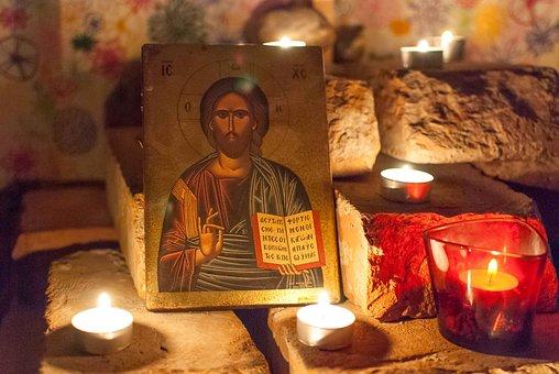 Prayer Space, Icon, Light, Jesus
