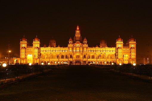 Mysore Palace At Monstre, Mysore, Karnataka