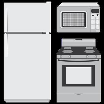 Appliances, Refrigerator, Microwave, Oven, Kitchen