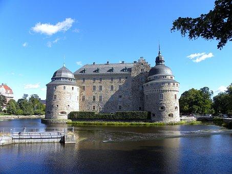 Sweden, örebro, Castle, Historical, Landmark, Sky