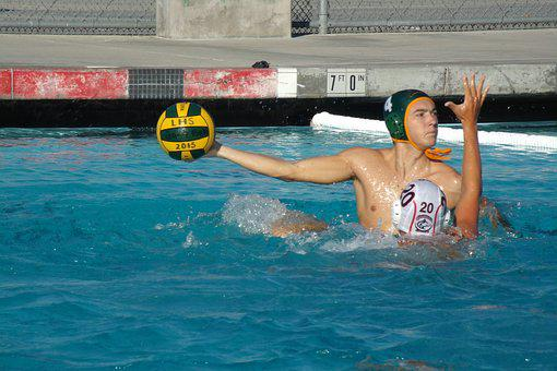 Sport, Water Polo, Ball, Pool, Athletic, Man, Waterpolo