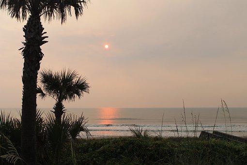 Sunrise On Ponte Vedra Beach, Dawn, Atlantic, Ocean