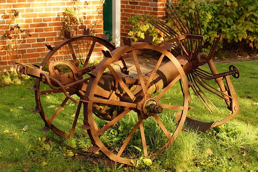 Potato Harvester, Agriculture, Device, Rusted, Antique