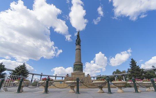 Blue Sky, Sculpture, Memorial Tower, Tower