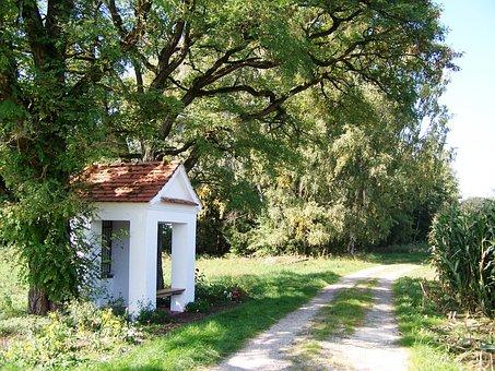 Chapel, Weißenhorn, Forest Path, Summer
