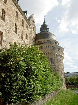 Castle, Orebro, Landmark, Tower, Sweden