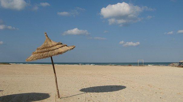 Tunisia, Beach, Water, Nature, Sea
