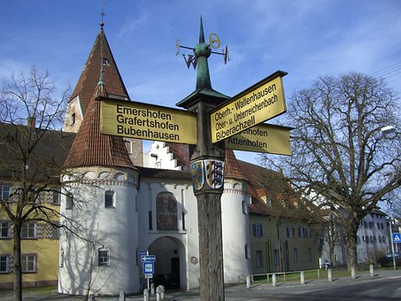 White Horn, Upper Gate, Signposts, Wood, Wooden Signs