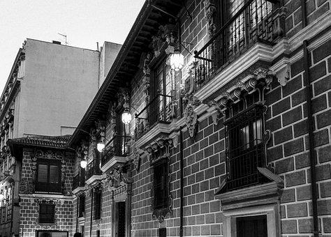 Buildings, Spain, Granada, Andalusia, Andalucia, Street