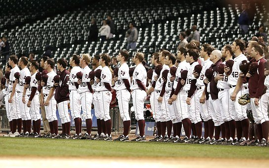 Baseball Team, National Anthem, Pregame