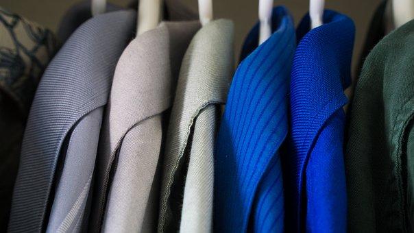 Closet, Clothes, Blue, Clothing, Wardrobe, Fashion