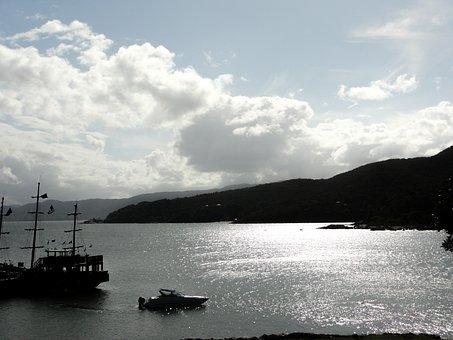 Mar, Boat, Florianópolis, Santa Catarina Island, Brazil