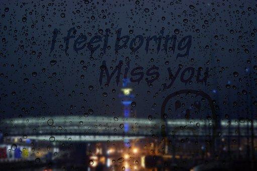 Rainy Day, Window Pane, Boring, Bridge