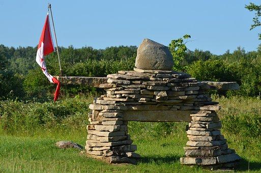 Canada, Inukshuk, Stone, Travel, Rock, Symbol, Mountain