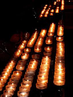 Cologne Cathedral, Candles, Church
