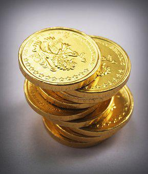 Coin, Gold, Cash, Isolated, Tower, Economy, Rate