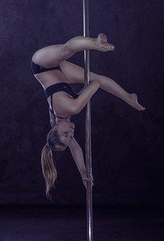 Girl, Pylon, Polidens, Pole, Dance, Woman, Gymnastics