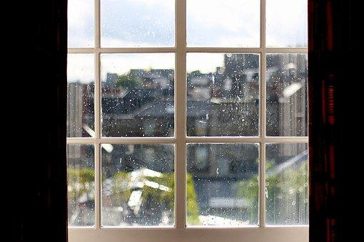Raindrop, Window, Drop, Drops, Rain, Water, Wet