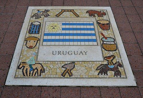 Uruguay, Team Emblem, Rugby, Soccer, Icon, Emblem, Flag