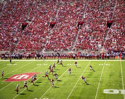 Football, College, Field, Pitch, Sports, Athletics
