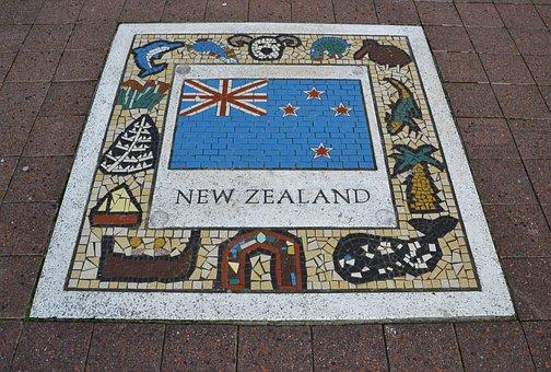 New Zealand, Team Emblem, Flag, Rugby, Icon, Soccer