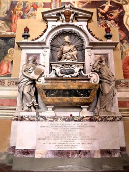 Tomb, Galileo, Florence, Santa Croce, Science Religion