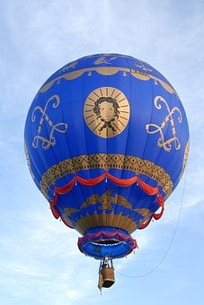 Hot-air Ballooning, Ball, Sky, Blue, Flight, Travel