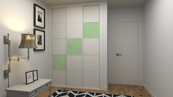 Wardrobe, Sliding, 3 Front, Design, Inside House