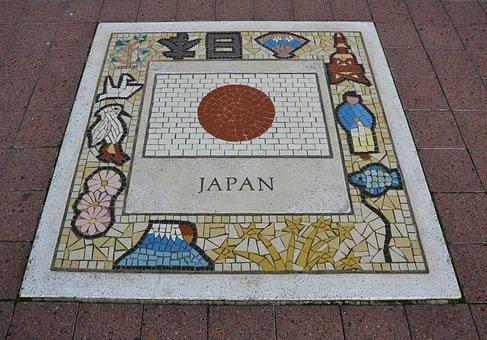 Japan Team Emblem, Flag, Emblem, Japan, Team, Soccer