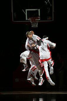 Professional Basketball, Players, Pre-game, Jumping
