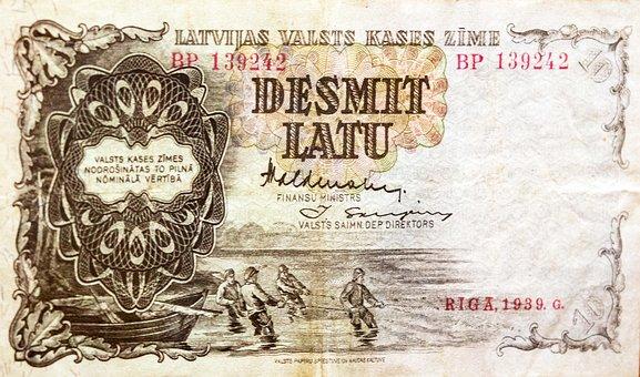 Money Latvia, Lat, Bill, Latvia, Currency, 10 Lvl