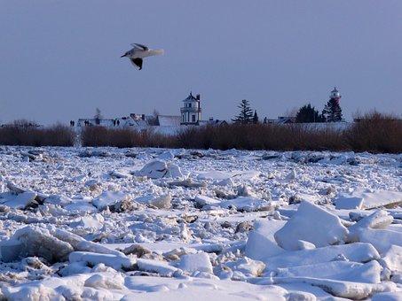 Elbe, Lühe, Ice, Old Country, Winterstimmung, Romance