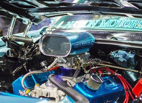 Engine, Blower, Chrome, Machine, Motor, Power, Metal