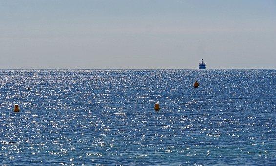 On The High Seas, Horizon, Mediterranean, Buoys