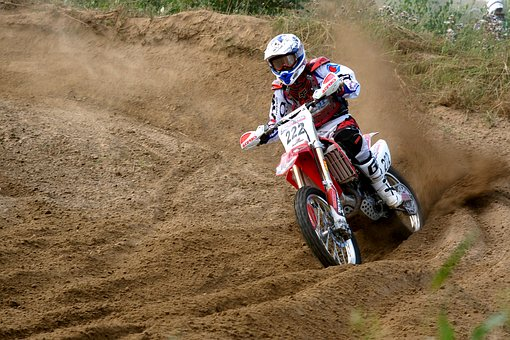 Motorcyclist, One, Motocross, Sports, Motorcycle