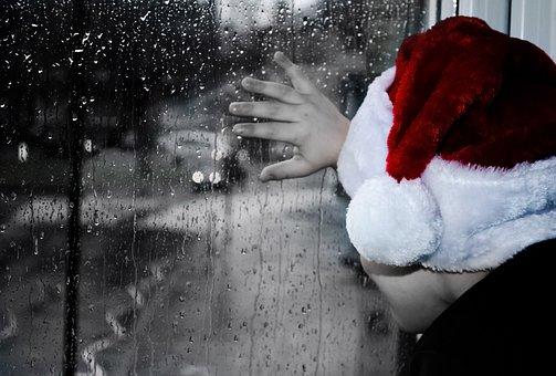 Rainy, Christmas, Grief, Child, Kid, Boy, People