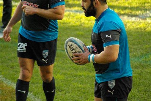 Rugby, Stadium, Ball, Players