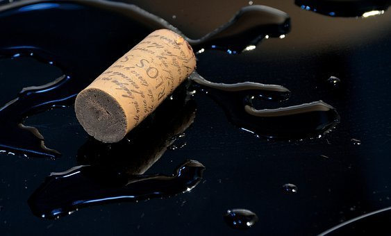 Cork, Wine, Puddle, Stopper, Alcohol, Drink, Beverage