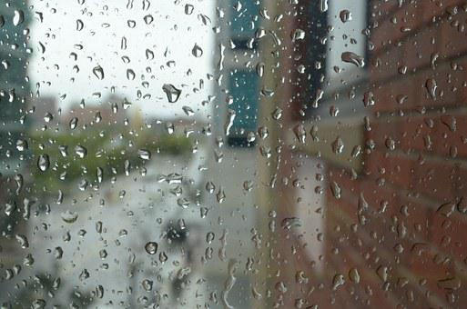 Raindrops, Clean, Water, Window, Rainy Day, Water Drops