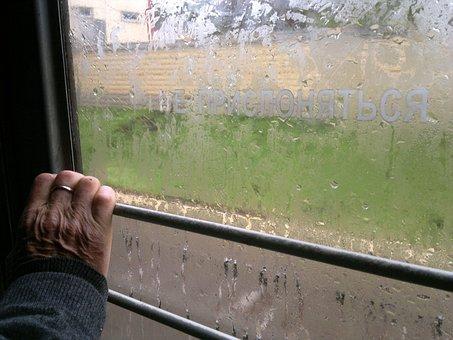 Hand, Elektrichka, Rainy, Trip, Rainy Day, Wet, Glass