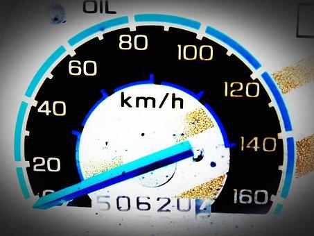 Car, Meter, Speeding, Dashboard, Speedometer, Red, Race