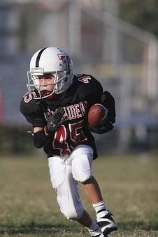 Football, Running Back, Action, Youth League, Ball
