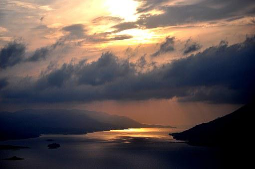 Sunset, Rainy Day, Sky, Cloud, Scene, Cloudscape